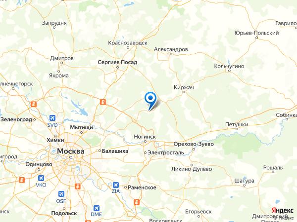 село Стромынь на карте