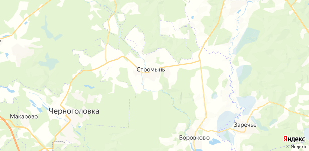 Стромынь на карте