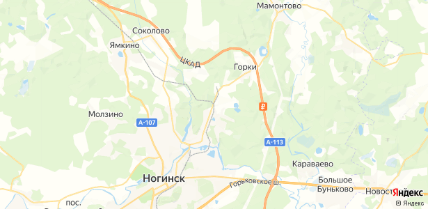 Ногинск на карте