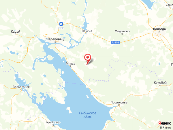 деревня Мусора на карте