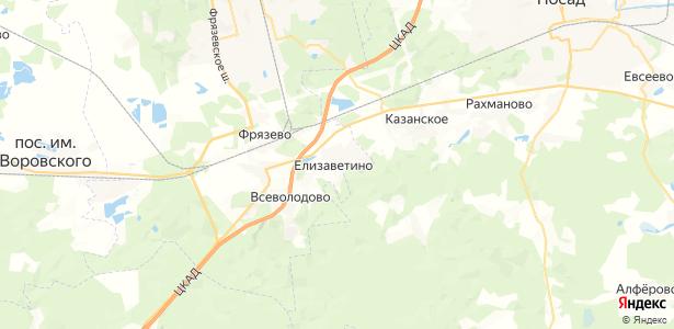 Елизаветино на карте