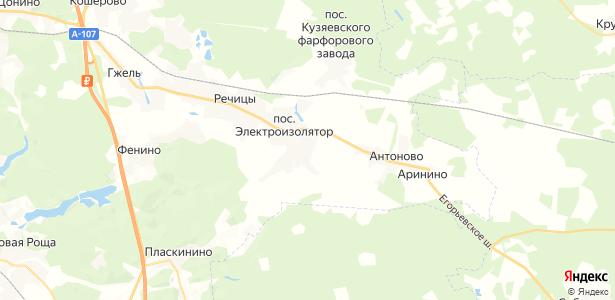 Бахтеево на карте