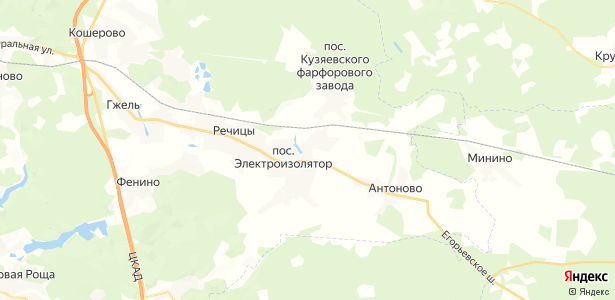 Жирово на карте