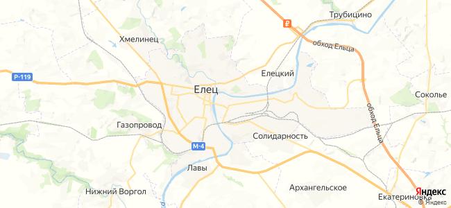 Елец - объекты на карте