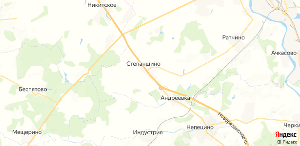 Степанщино на карте
