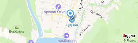 Роза Ветров на карте Геленджика