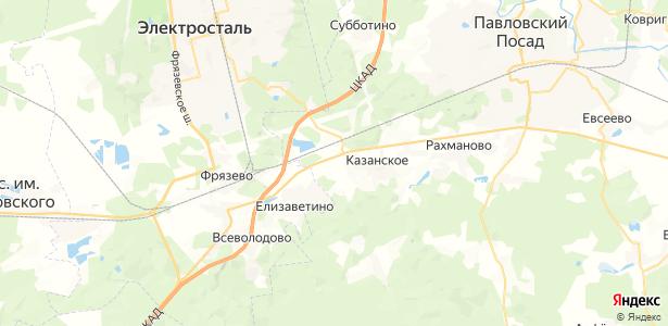 Грибаново на карте