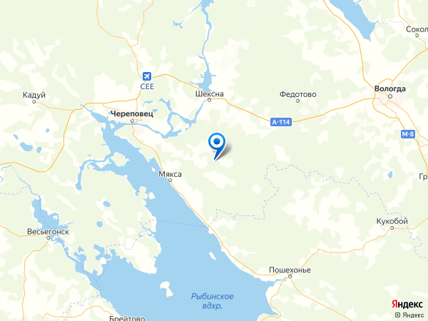 деревня Жарки на карте