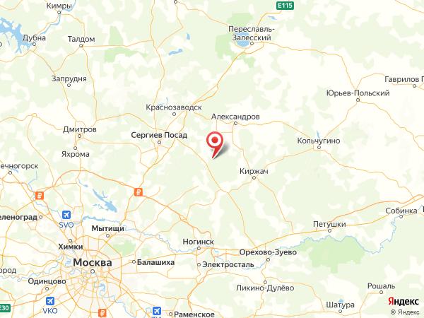 город Сергиев Посад-15 на карте