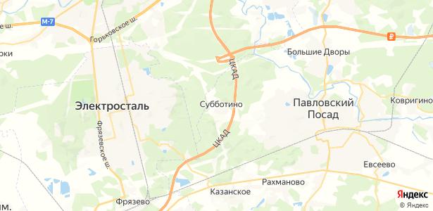 Субботино на карте