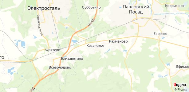 Казанское на карте
