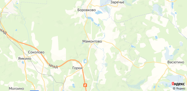 Мамонтово на карте