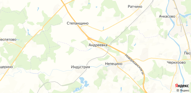 Андреевка на карте