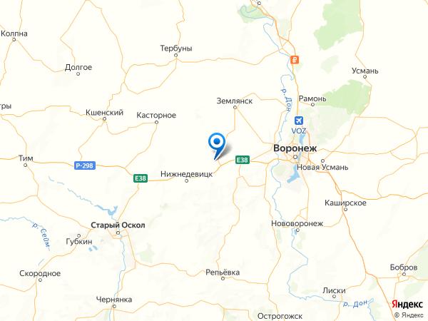 поселок Курбатово на карте