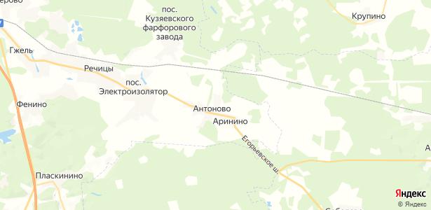 Антоново на карте