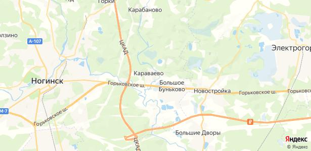 Караваево на карте