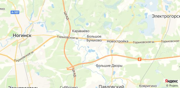 Большое Буньково на карте