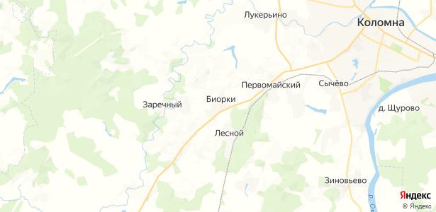 Биорки на карте