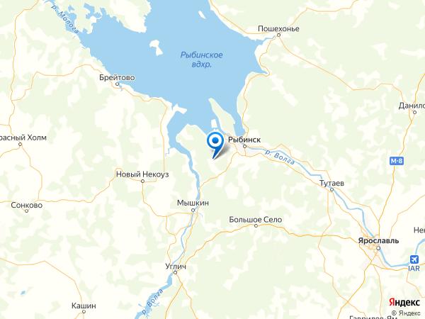 посёлок Тихменево на карте