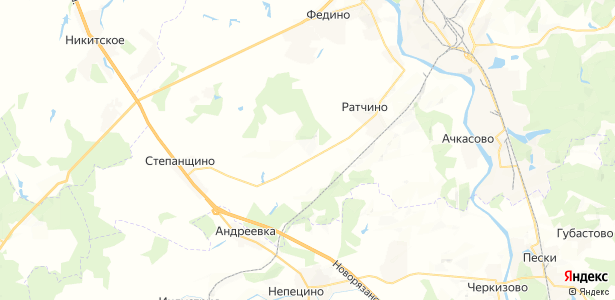 Лукьяново на карте