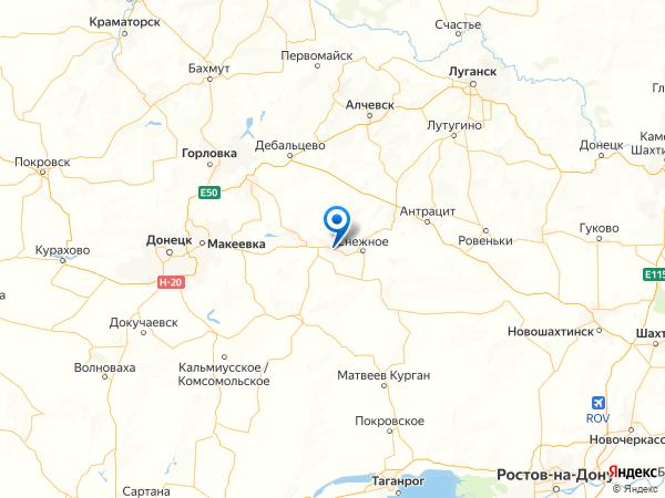 Чистяково / Торез на карте
