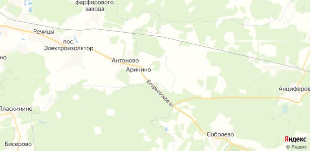 Сидорово на карте