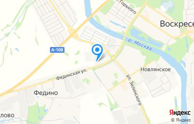 Местоположение на карте пункта техосмотра по адресу Московская обл, г Воскресенск, тер Промышленный технопарк Федино, зд 14