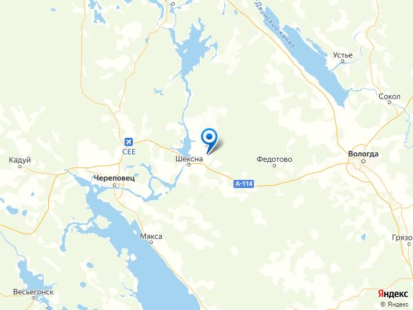 деревня Семкино на карте