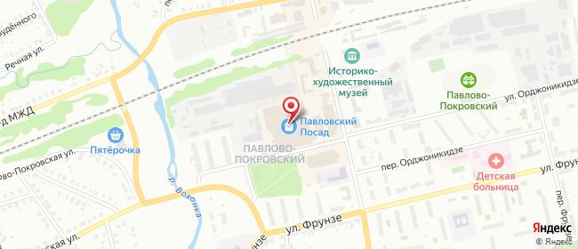 Карта расположения пункта доставки Павловский Посад Большая Покровская в городе Павловский Посад