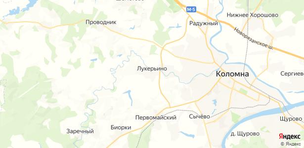 Лукерьино на карте