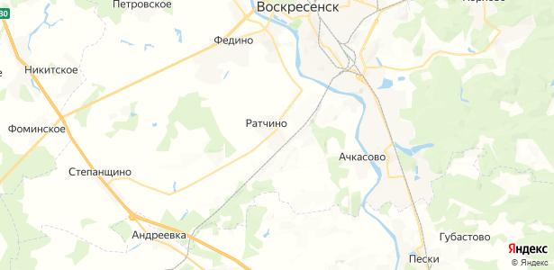 Ратчино на карте