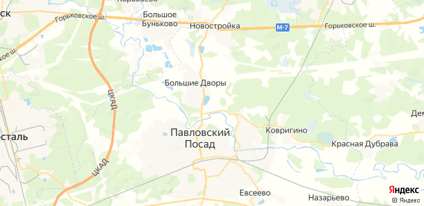 Гаврино на карте