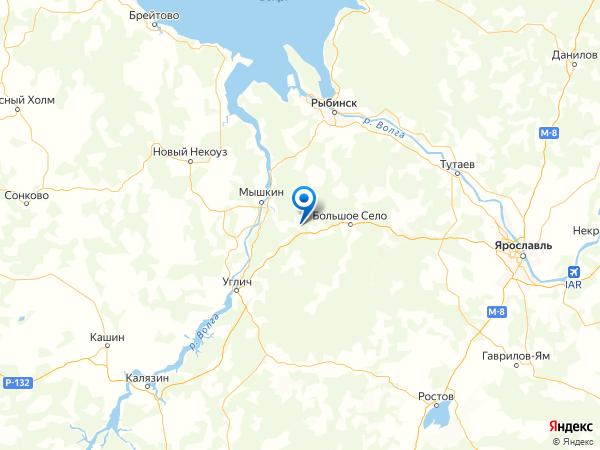 деревня Устье на карте