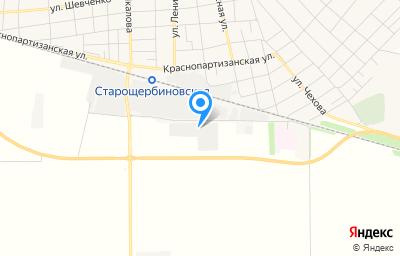 Местоположение на карте пункта техосмотра по адресу Краснодарский край, ст-ца Старощербиновская, ул Промышленная, д 3