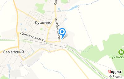 Местоположение на карте пункта техосмотра по адресу Тульская обл, рп Куркино, ул Октябрьская, д 139А