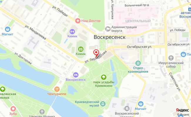 Карта расположения пункта доставки Пункт выдачи в городе Воскресенск