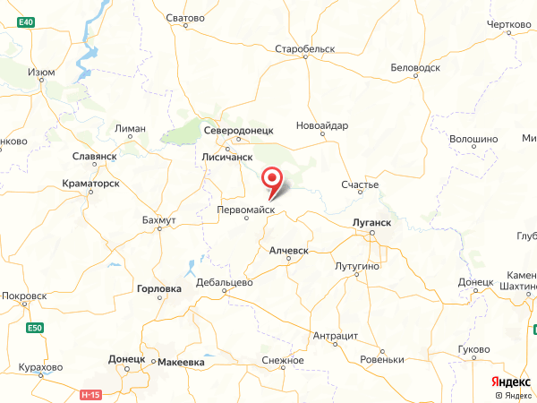 поселок городского типа Донецкий на карте