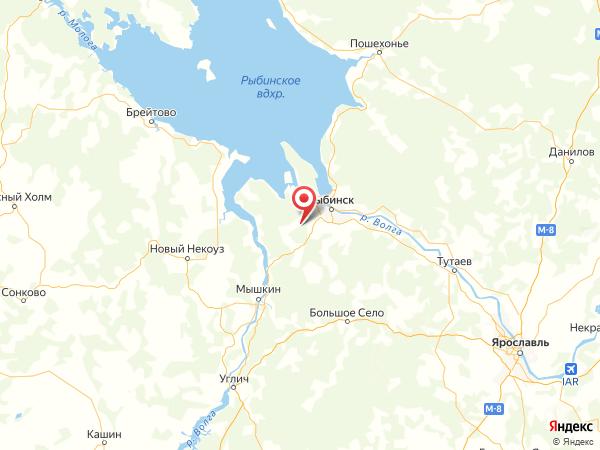 деревня Васькино на карте