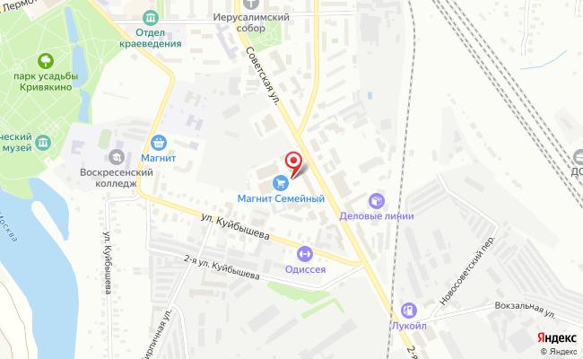 Карта расположения пункта доставки СИТИЛИНК в городе Воскресенск