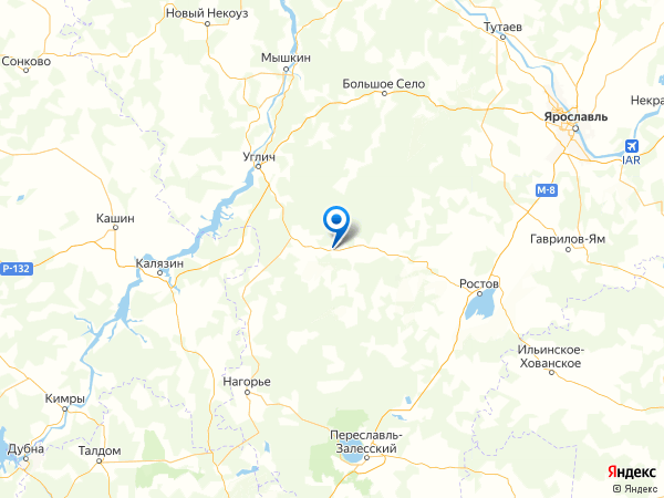 деревня Бабаево на карте