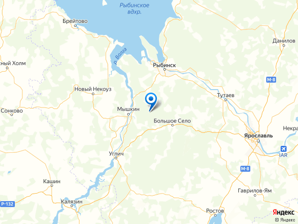 поселок Павлово на карте