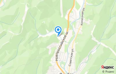 Местоположение на карте пункта техосмотра по адресу Краснодарский край, Туапсинский р-н, пгт Джубга, ул Новороссийское шоссе, д 27Б