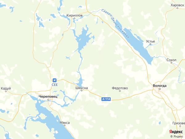 деревня Поляна на карте