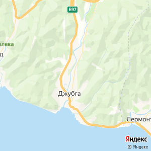 Карта города Джубги