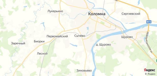 Сычево на карте