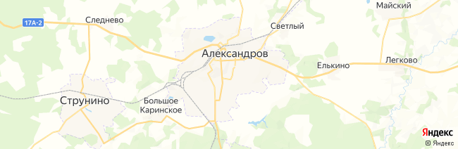 Александров на карте