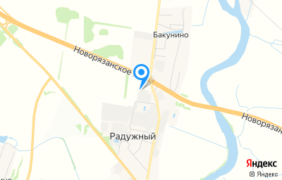 Местоположение на карте пункта техосмотра по адресу Московская обл, г Коломна, п Радужный, д 1