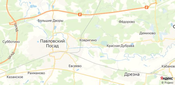 Ковригино на карте