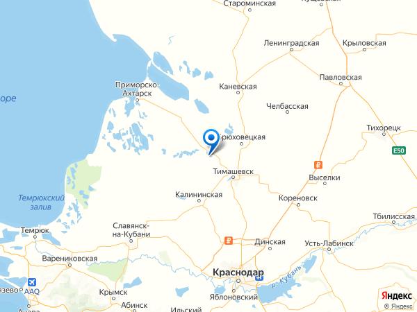 станица Роговская на карте