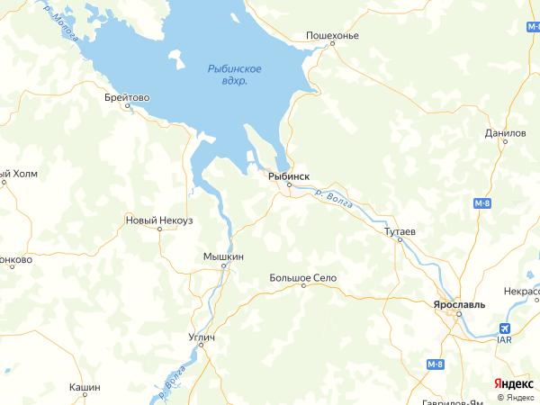 деревня Большое Кстово на карте